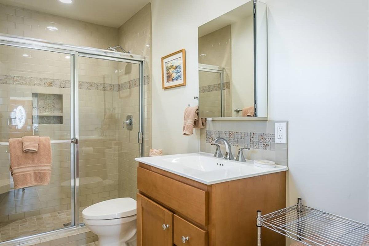 Updated bathroom w/ shower