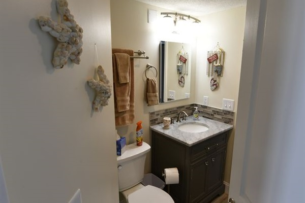 2nd Bathroom With Vanity and Marble Top.