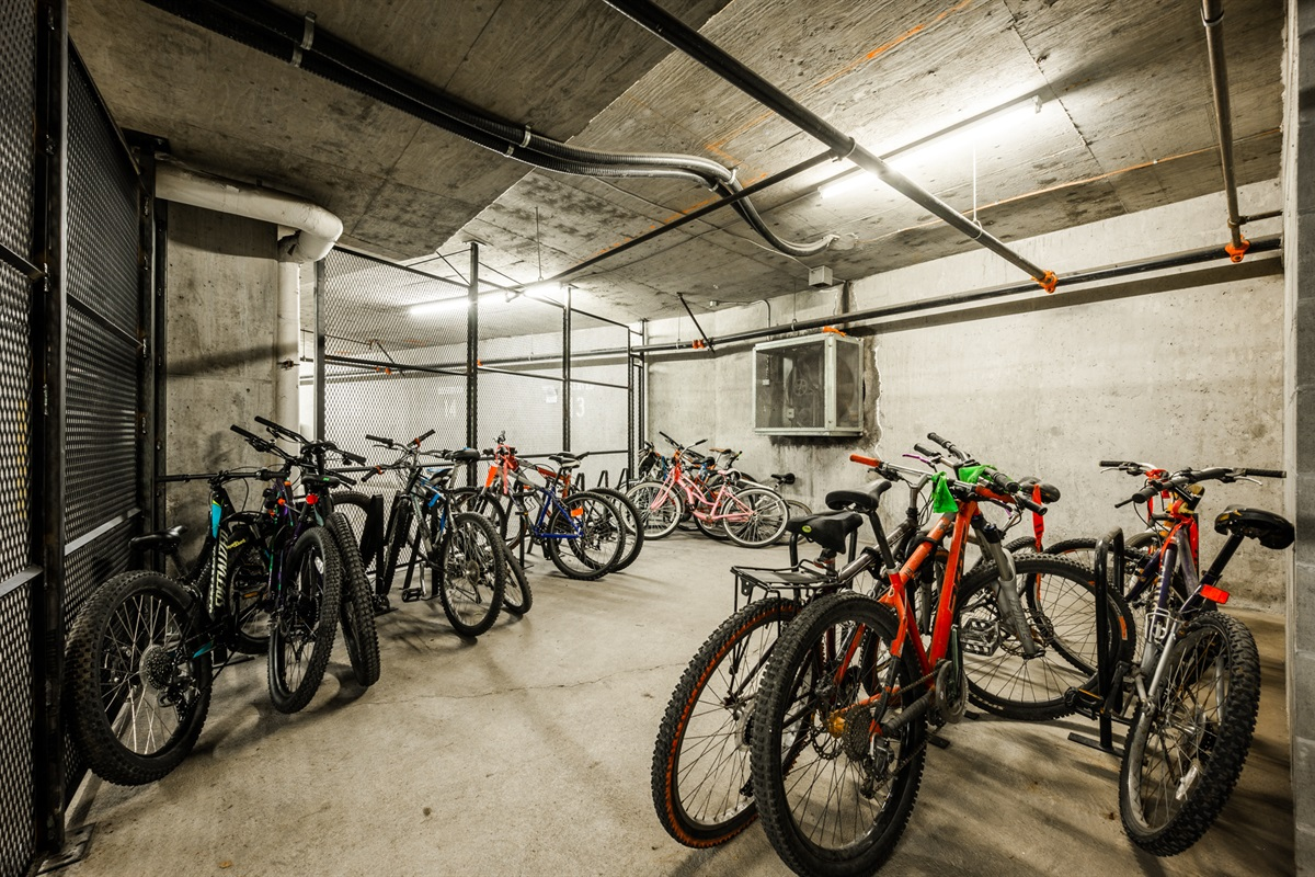 Bike storage - Safe and secure, bikes can be stored in the underground parking area, accessible by fob only.