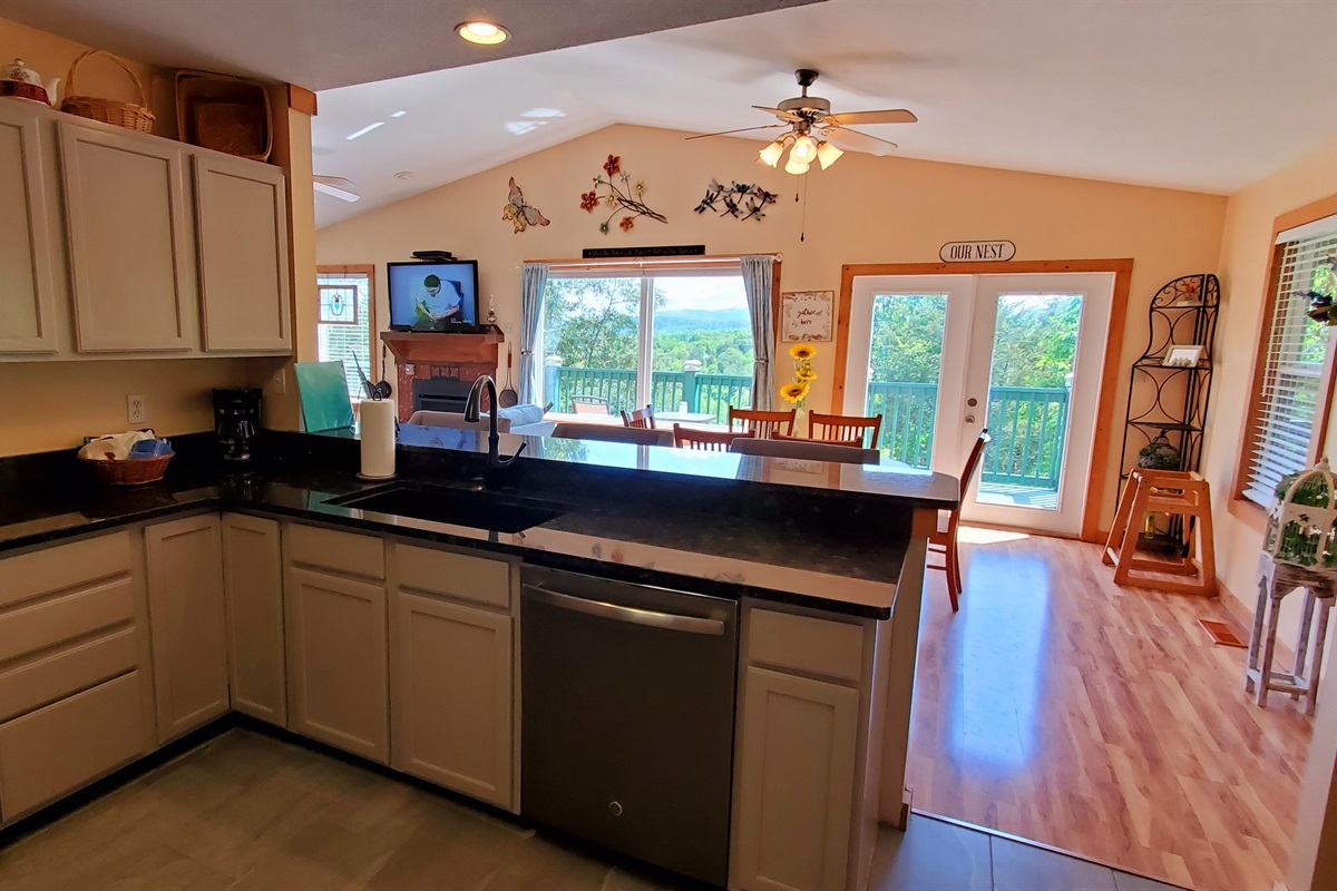 Enjoy the newly remodeled kitchen with new appliances with panoramic views!
