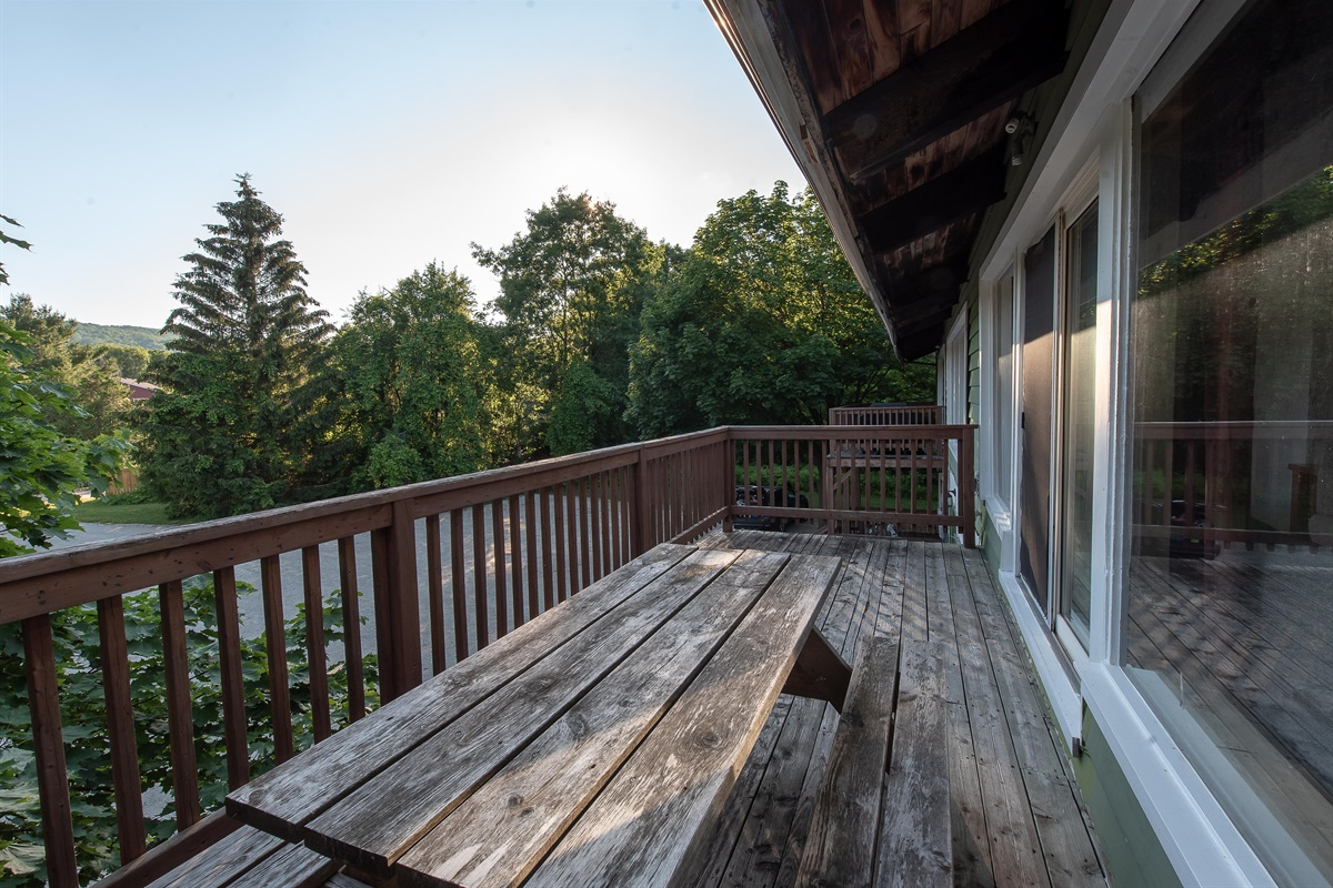 Oversize balcony with a view of Blue Mountain