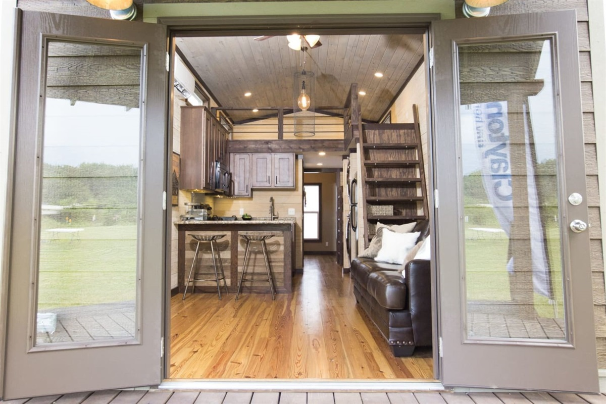 Entrance To The Luxury Tiny Home