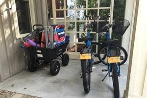 Two Adult Bikes & Wagon