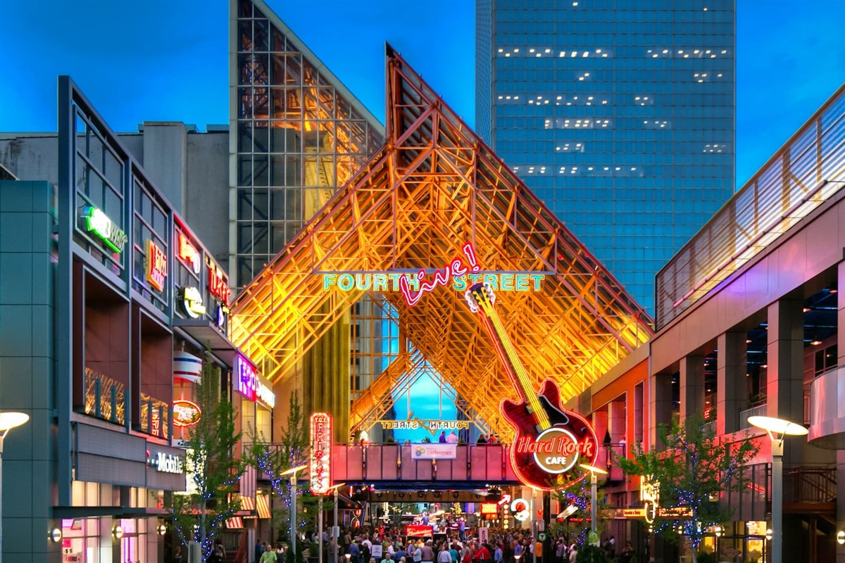 4th Street Live Entertainment District is just steps away from this location