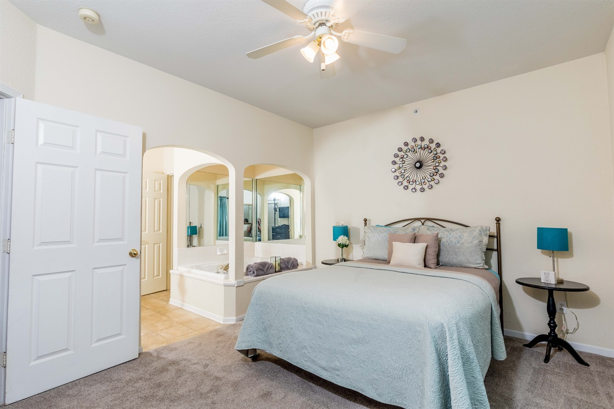 The master suite is open and spacious!