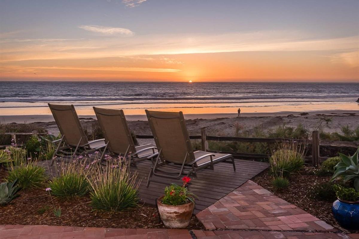 Ocean front patio
