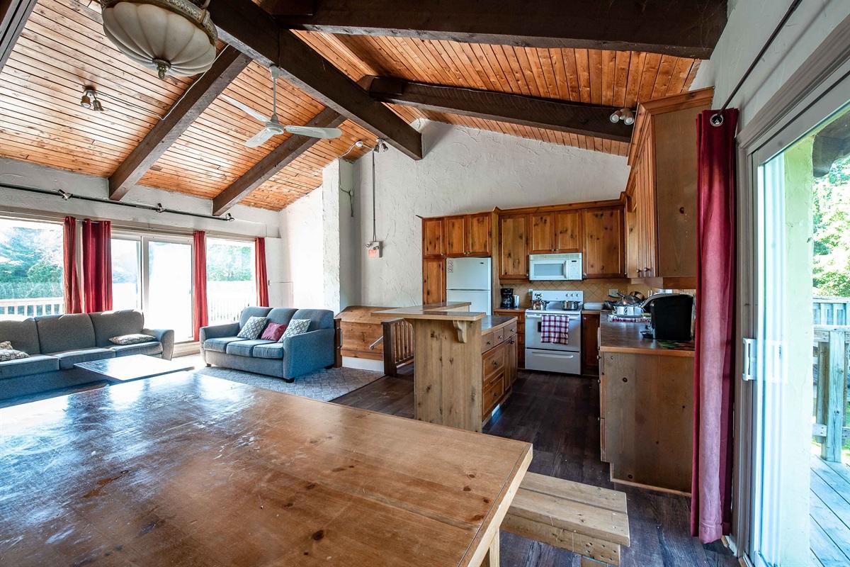 """Deer"" - Open concept living, dining & kitchen"