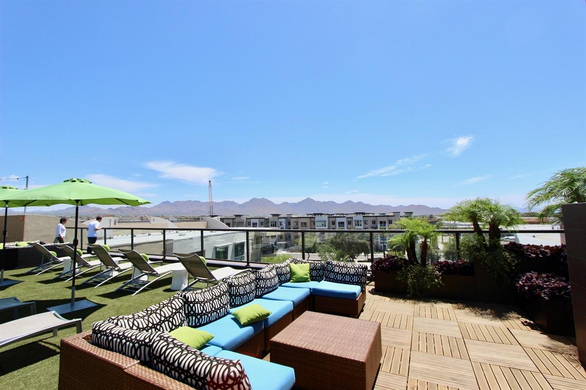 Roof top deck.