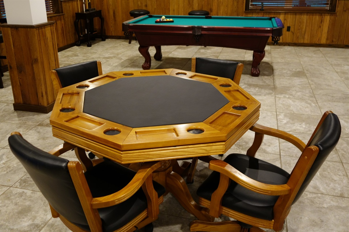 Game table downstairs