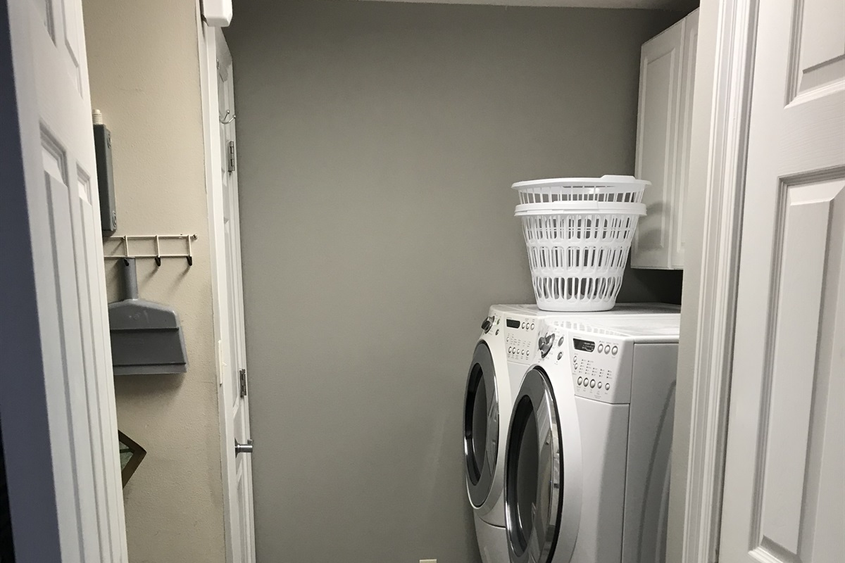 Laundry with front load washer and dryer