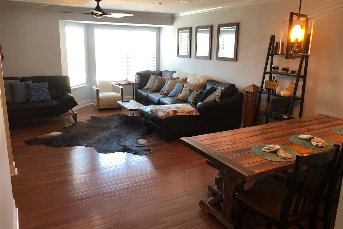 Open Living & Dinning Area  Approximately 400 square feet of space that provides a place for your group to be together.
