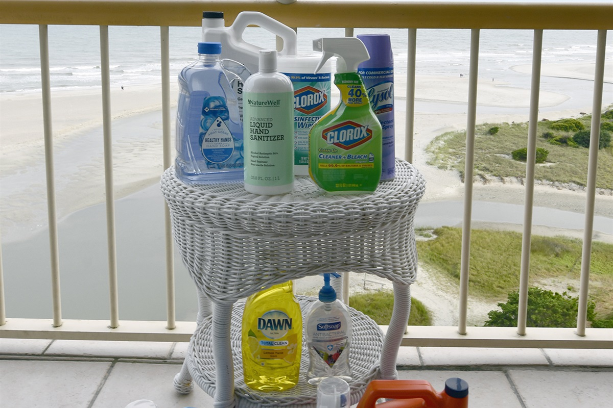 Cleaning Supplies For Our Guests