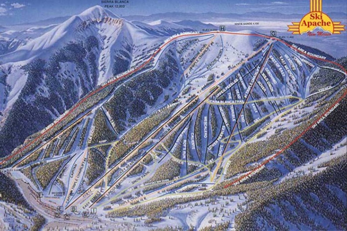 Map of Ski Apache