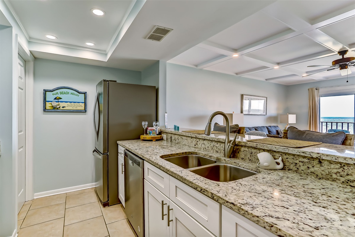 Full Kitchen with a Great View