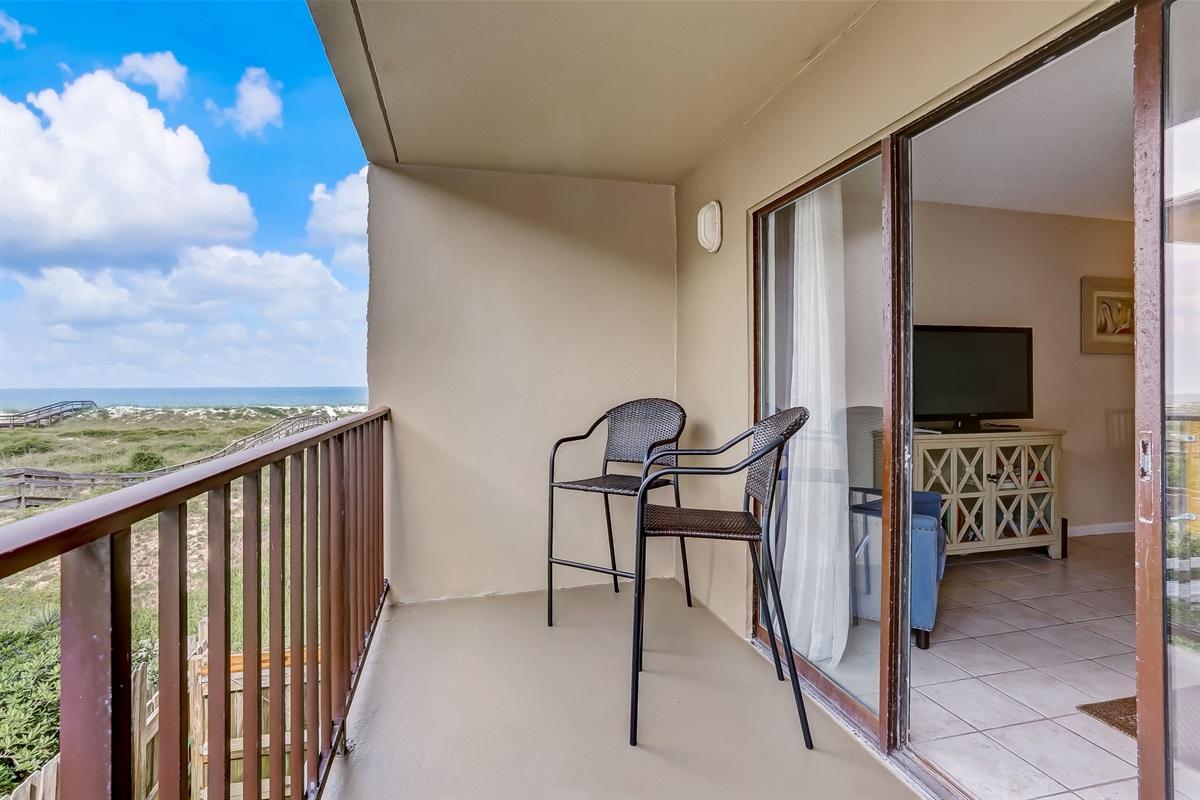 Balcony Opens to Living Room