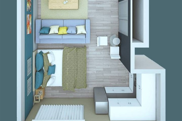 Floor plan for this apartment