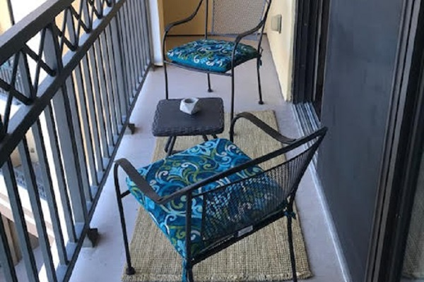 Chairs on Private Balcony