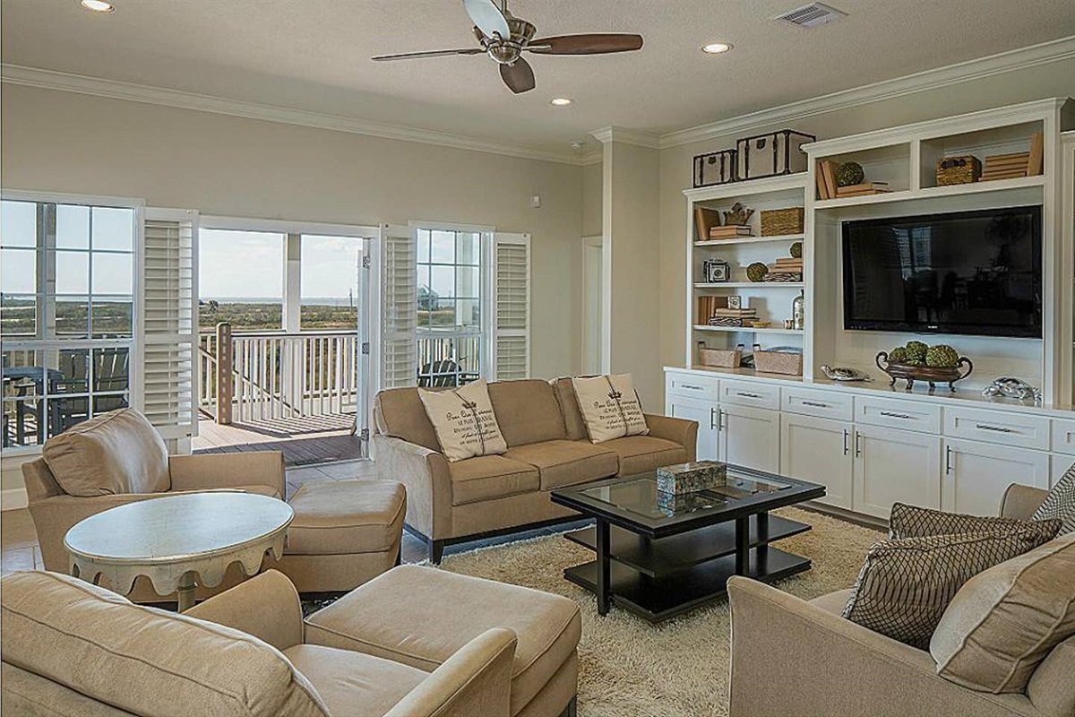 Living Area Offers Two Full-size Couches
