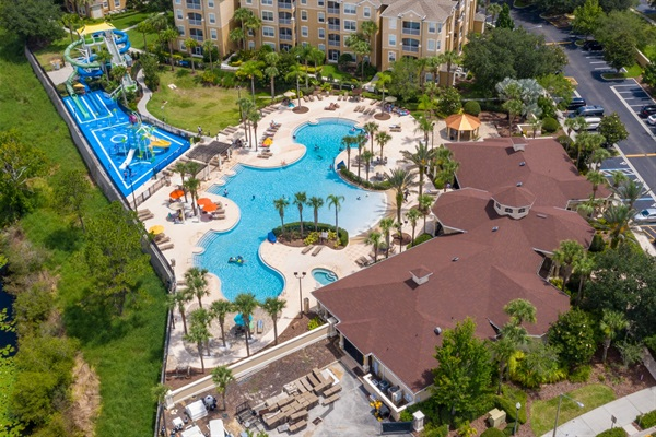 Community Center and Windsor Aquaventure Water Park featuring dueling water slides and splash pad!