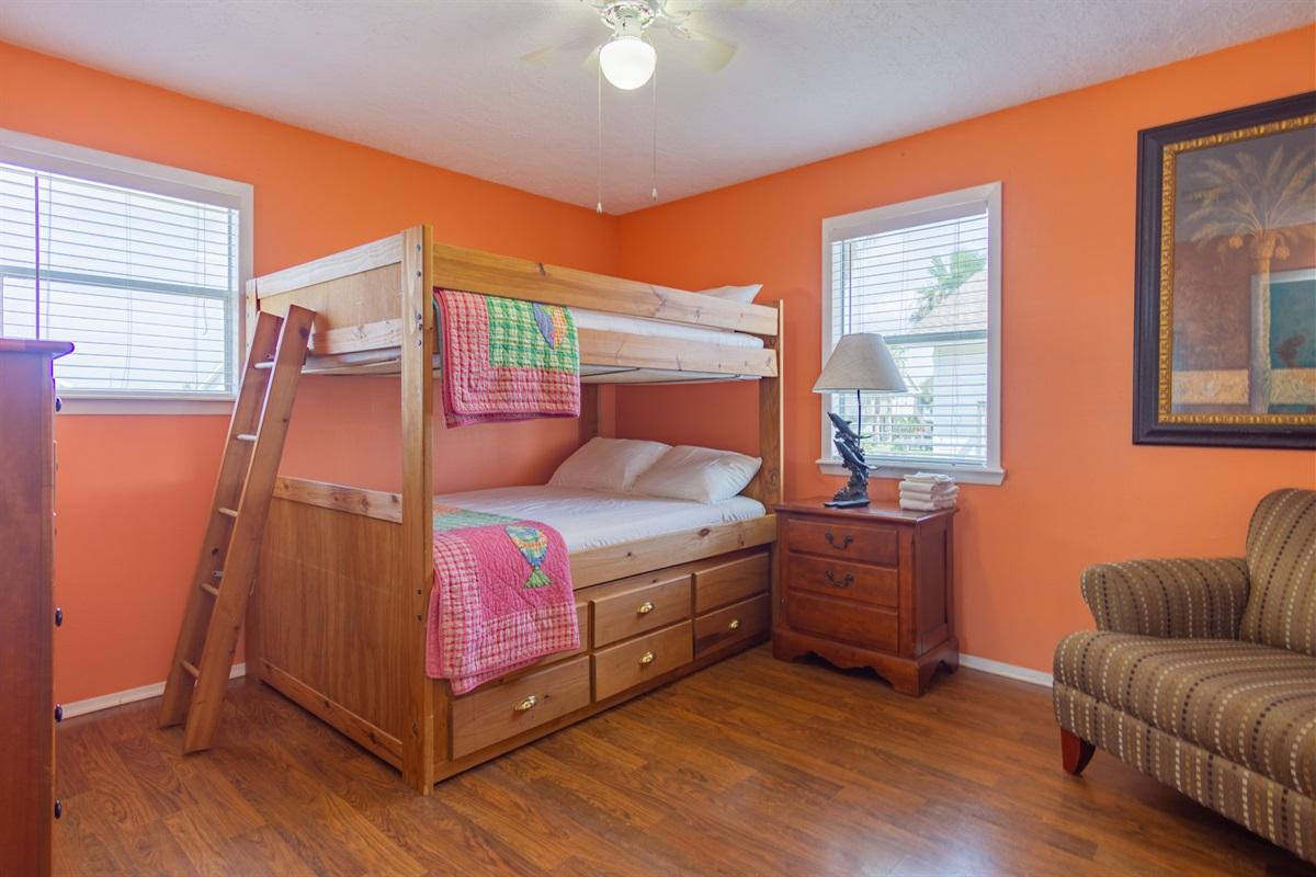 Bedroom 2 - Full/Full Bunkbed & Twin Trundle