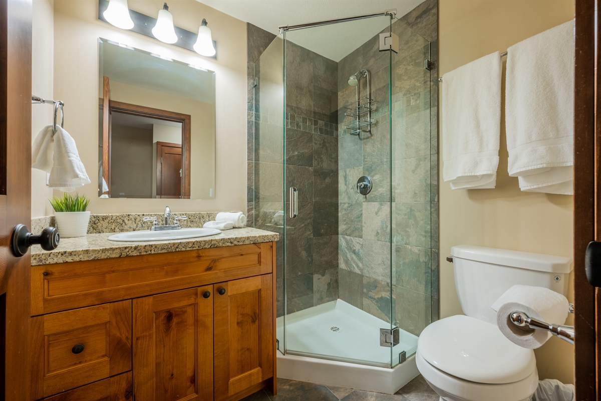 Bathroom #2 - Fully renovated, body wash, shampoo and conditioner included,  heated flooring.