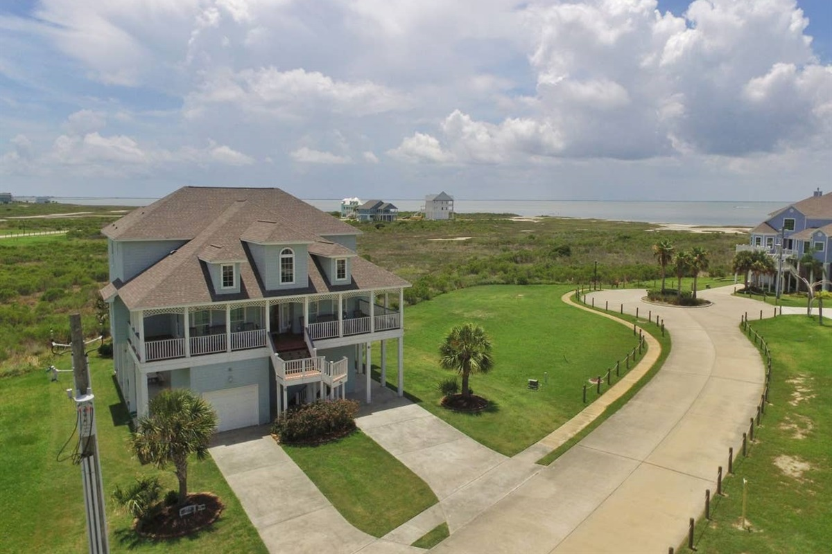 AerialView of Bay House