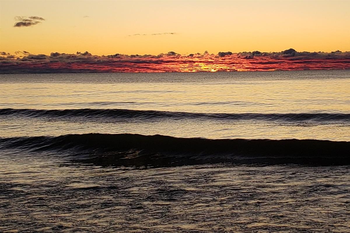 Sunrise on our Shore!
