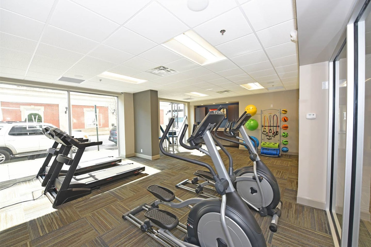 Cardio for days!! Our Exercise room is fully equipped.