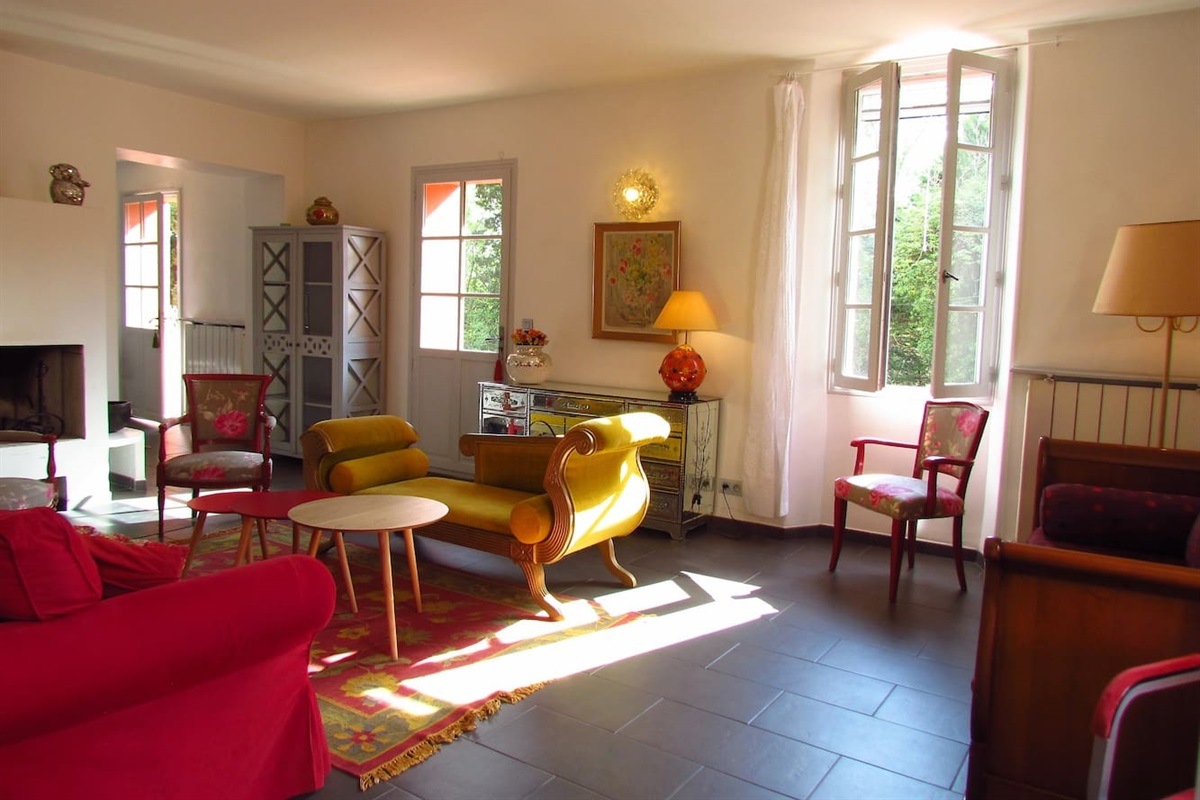 living room de la Villa Chandra à Biot