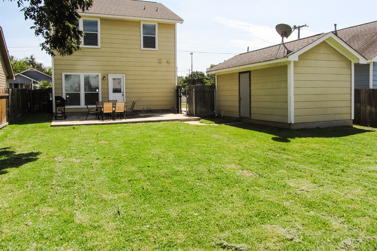 Backyard.  Incredibly spacious for a downtown property.