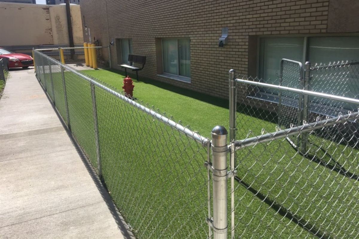 This location is Pet Friendly. There is a 24/7 Dog Park available for guests to use located on site. I request a $25.00 Pet Fee to host your furry friend!
