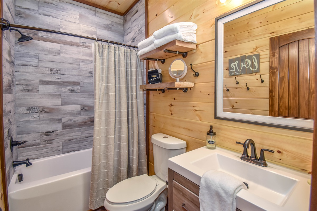 Caribou Suite tub/shower combo.
