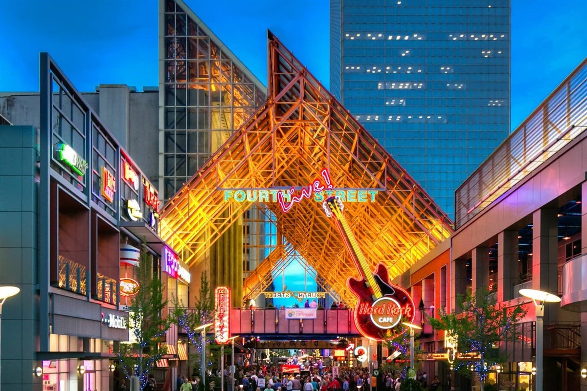 4th Street Live Entertainment District is located just steps away from this location!